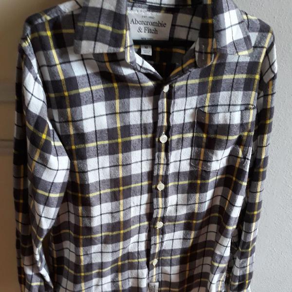 Camisa xadrez flanelada da abercrombie & fitch