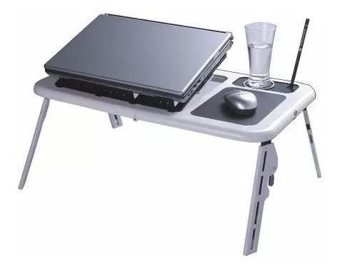 Mesa Notebook Table Doblável Portátil Suporte Cooler Usb