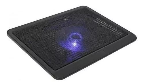 Suporte base para notebook com cooler led azul tec-c04