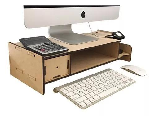 Suporte nicho utilitários para monitor computador mdf 1076