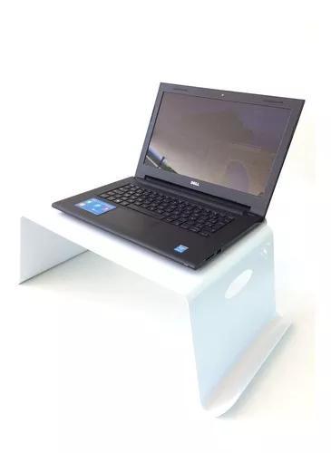 Suporte/porta - notebook/pc de cama/sofá - alumínio branco