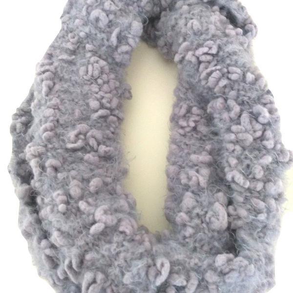 Cachecol gola feminina tricô em lã acessório inverno