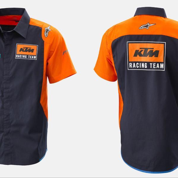Camisa ktm factory racing com alpinestars
