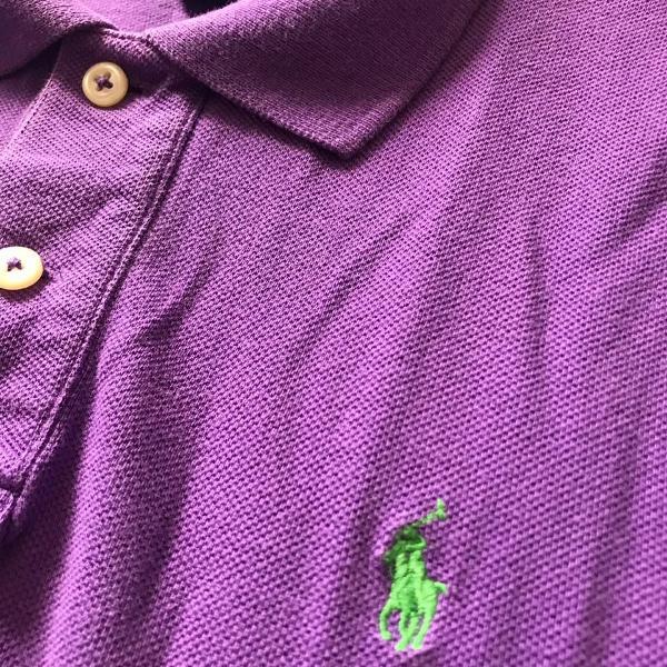 Camisa polo ralph lauren cor roxa