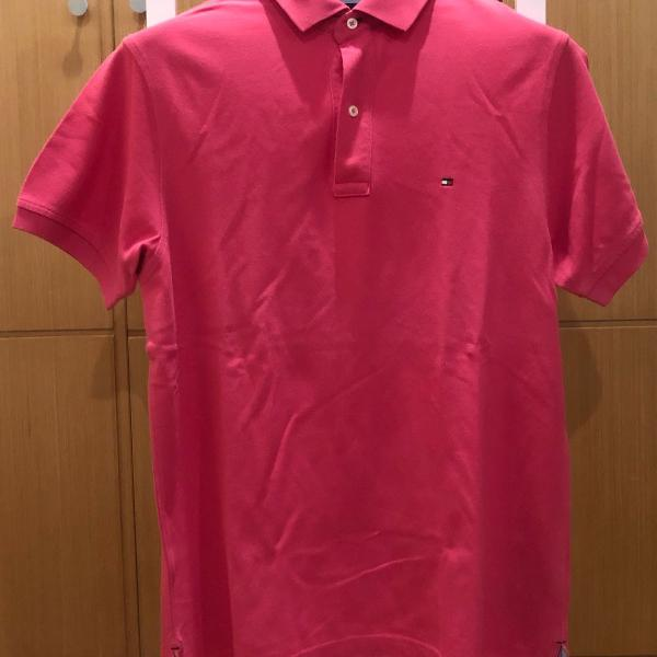 Polo rosa choque tommy hilfiger