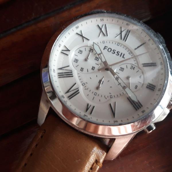 Relógio fossil + carteira wöllner