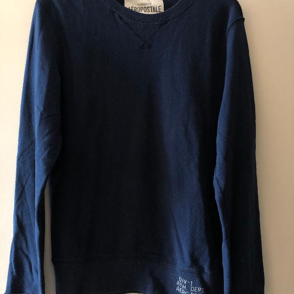 Suéter azul marinho - aeropostale