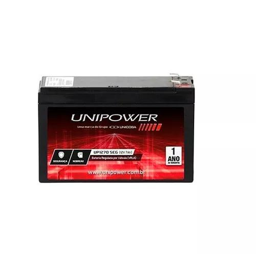5 bateria unipower selada 12 volts 7a alarmes cerca nobreak