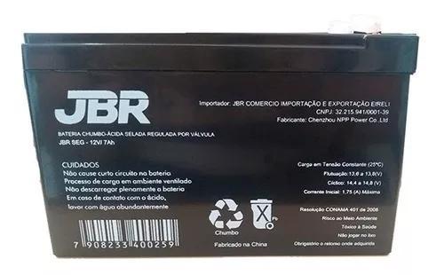 Bateria 12v 7 amperes nobreak selada alarme