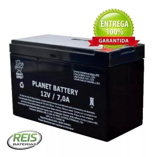 Bateria 12v 7ah vrla (agm) planet battery estacionária