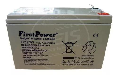Bateria estacionária vrla (agm) first power 12v - 7ah -