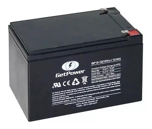 Bateria estacionária vrla (agm) getpower 12v 12ah gp12-12