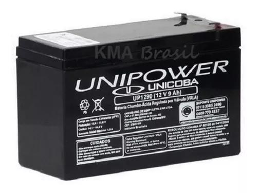Bateria selada 12v 9ah unipower up1290 - vida útil: 3 anos