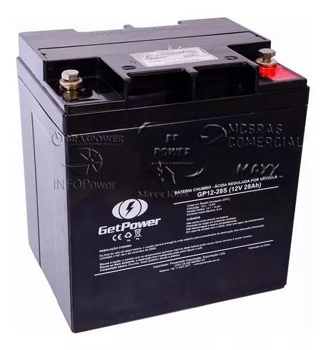 Bateria selada gel 12v 28ah get power - vrla (agm) gp12-28s