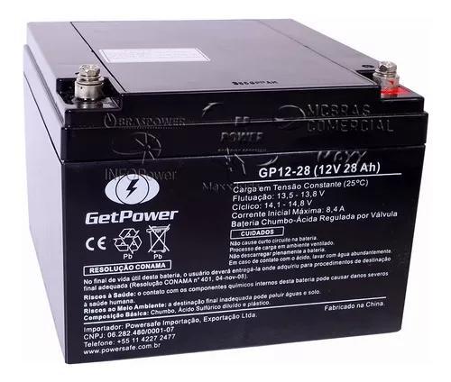 Bateria selada gel 12v 28ah - tecnologia vrla agm