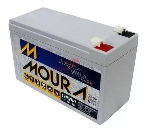 Baterias vrla p/ alarme nobreak 12v 7ah moura- 2 unidades