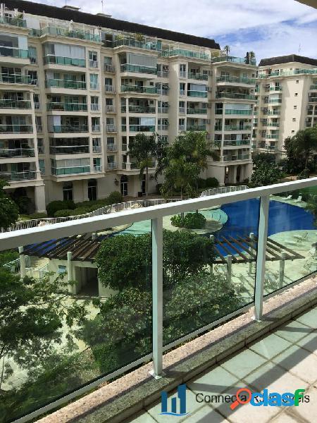Apartamento na barra da tijuca com 2 quartos - condomínio le parc