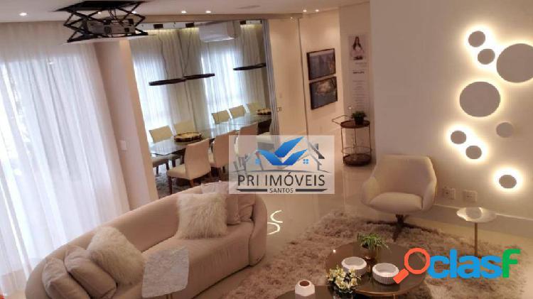 Apartamento à venda, 127 m² por r$ 1.200.000,00 - boqueirão - santos/sp