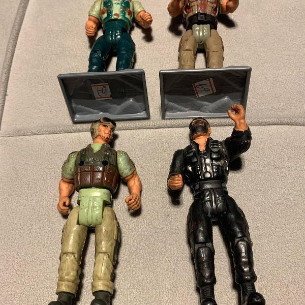 4 bonecos articulados gi joe gijoe comandos em ação.