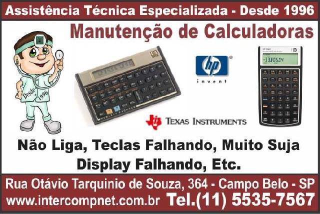 Assistência técnica de calculadora hp 12c texas