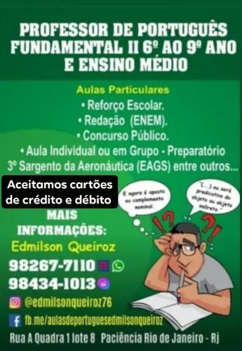 Aulas particulares de português e redação