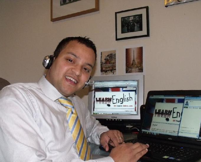 Aulas particulares de inglês online via skype