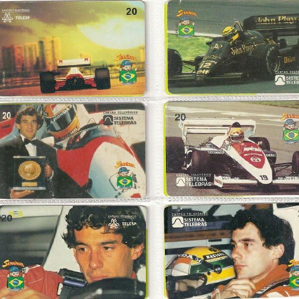 Coleção de cartões, incluído a coleção do ayrton senna