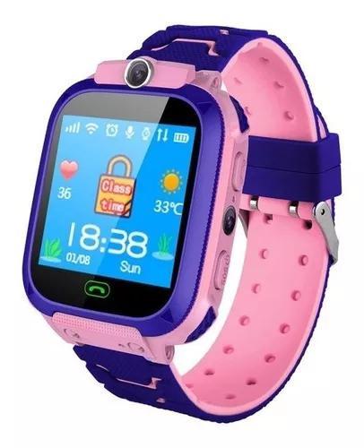 Crianças relógio inteligente q12b telefone relógio posici