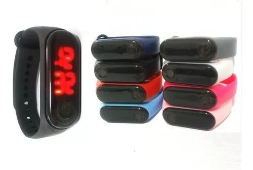 Kit 30 relógio pulseira silicone digital led bracelete