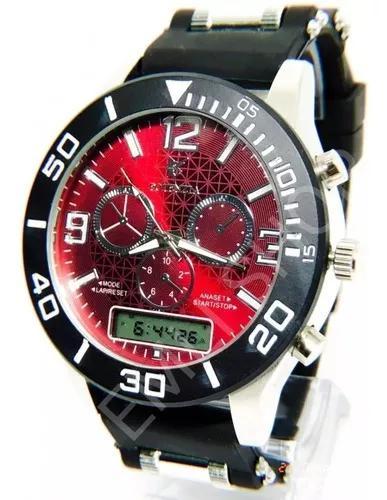 Kit 5x relógio luxo dourado militar potenzia barato +