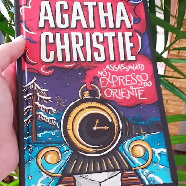 "Livro ""assassinato no expresso do oriente"", agatha christie"