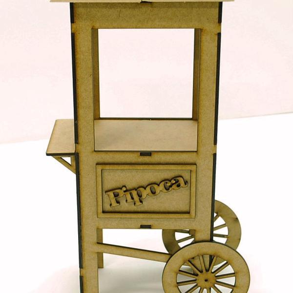 Mini carrinho de pipoca decoração festa junina/circo em