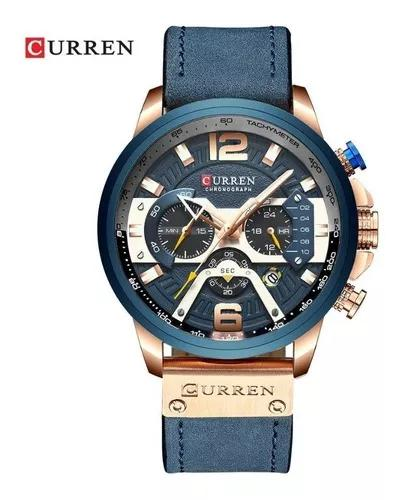 Promoção relógio masculino curren original funcional