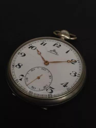 Relógio bolso tellus suiss corda antigo