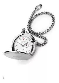 Relógio de bolso technos aço inox quartzo 1l45ba/1b