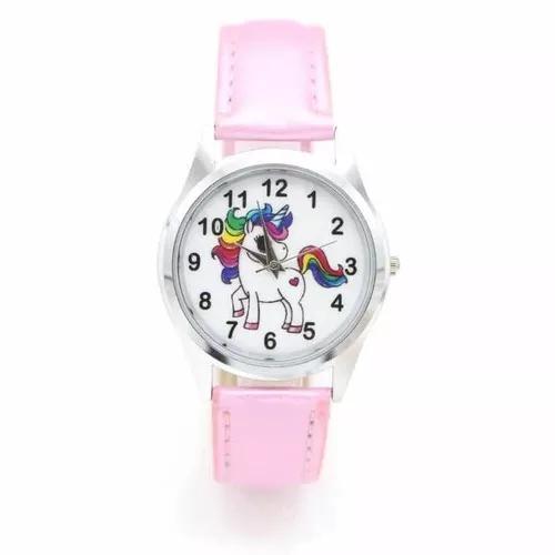 Relógio infantil unicórnio analógico