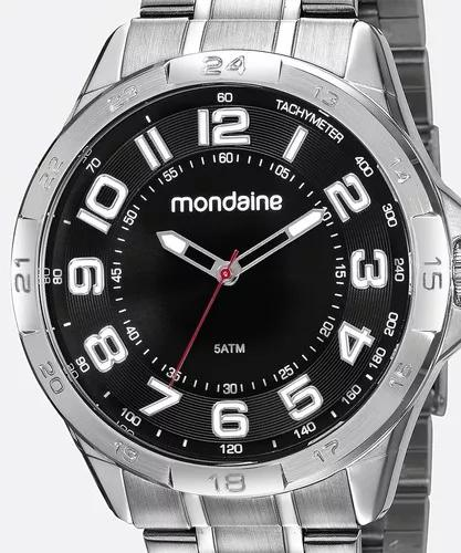 Relógio mondaine masculino prata grande 53829g0mvne2