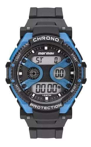 Relógio mormaii masculino acqua preto mo8590aa/8a