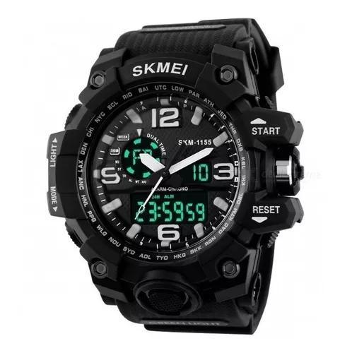 Relógio skmei masculino 1155 esportivo a prova d'água