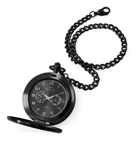 Relógio technos de bolso masculino vd77ab/4p aço dourado