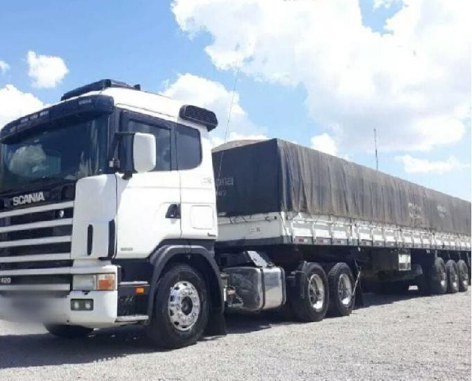 Scania 124 420 6x2 carreta graneleiro 13.4m