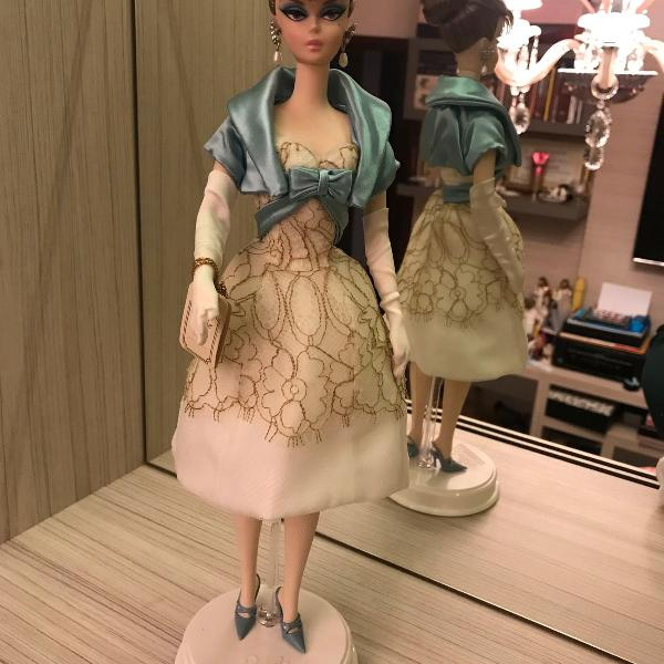 Barbie party dress doll fashion model collection silkstone