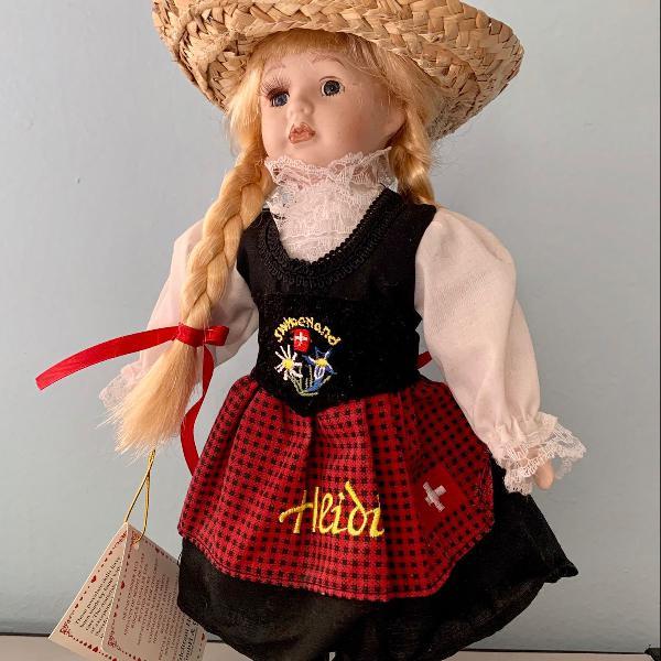 Boneca alemã heidi porcelana 30 cm