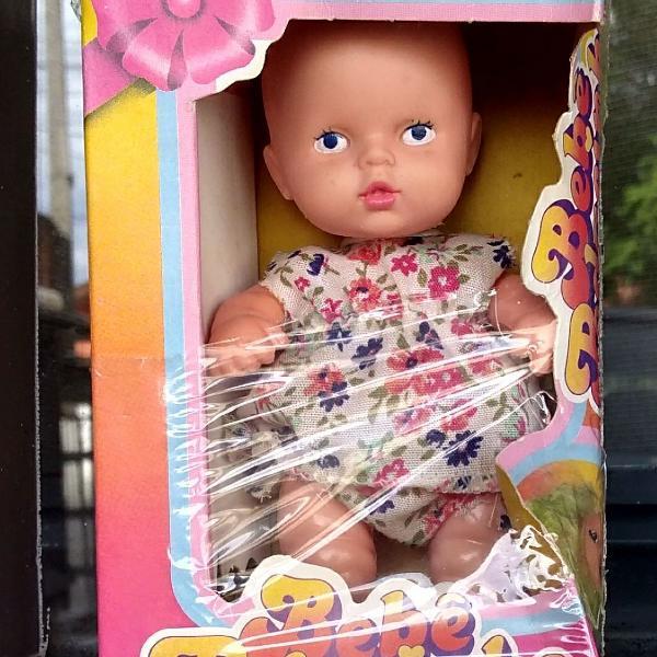 Boneca antiga bebê pedacinho cotiplás anos 80