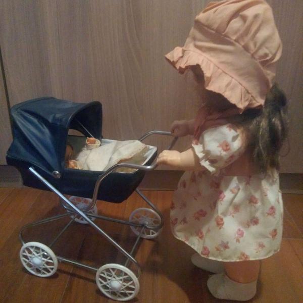 Boneca espanhola vintage babá e bebê