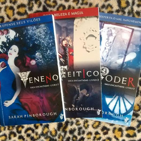 Box saga encantadas com 3 livros