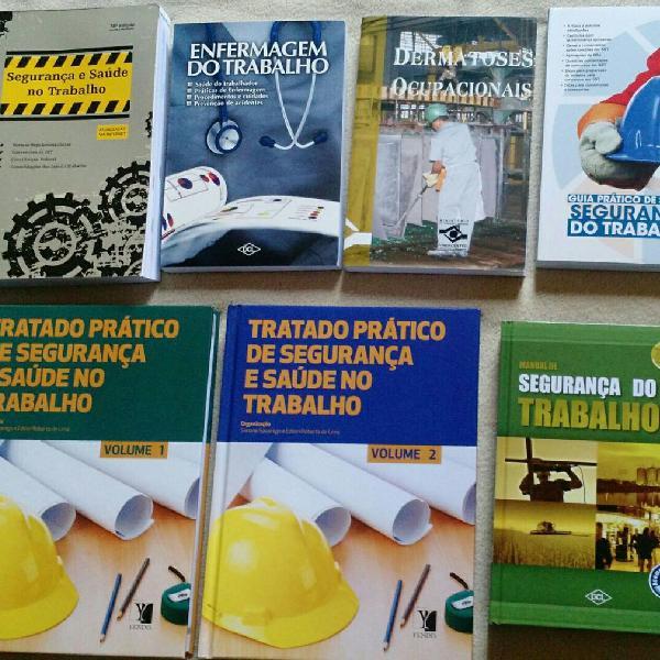 Coleção de livros segurança do trabalho
