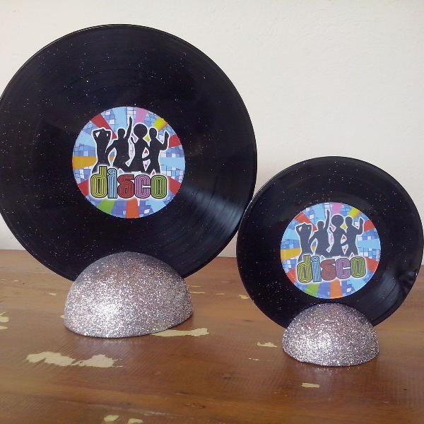 Decoração de mesa - festa disco
