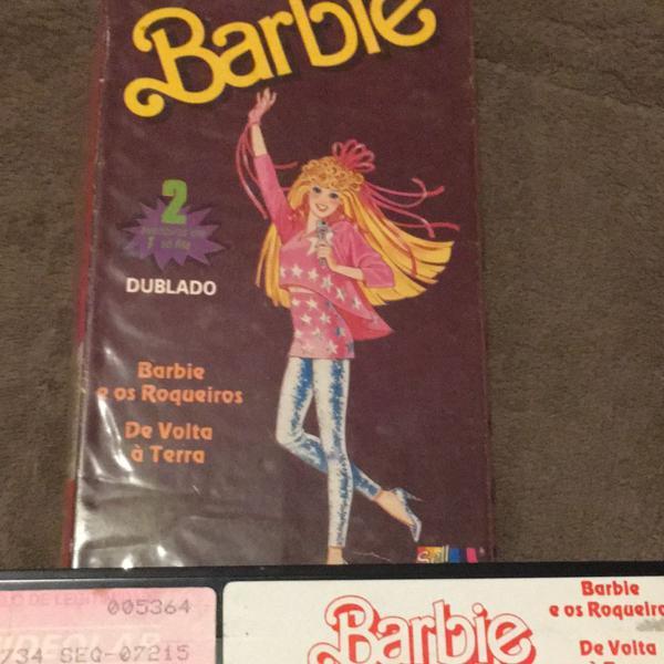 Fita de vídeo barbie vintage