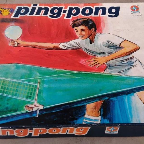 Jogo ping pong estrela anos 80